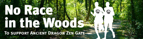 No Race in the Woods banner