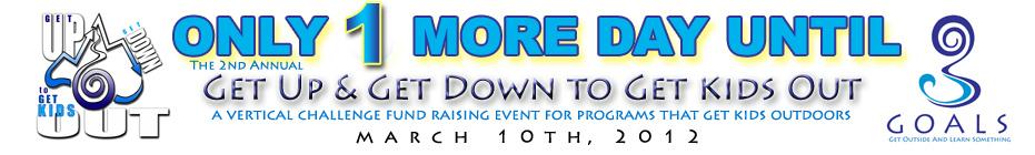 The GOALS Vertical Challenge Fund Raising Team banner