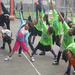 Stretching it out at Oakland Refugee Community Camp