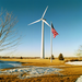 A wind turbine in southeastern Minnesota
