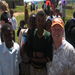 With Aids Orphans in Lesotho.