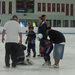 Grown Up DinoMights teach first graders ice skating at Learn 2 Skate