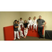 Travis Mason and his kids kickboxing crew.
