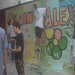 Youth paint a mural for Spring for Alexandria 2011