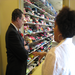 Mayor Gray touring the Clothes Closet with Safe Shores Executive Director Michele Booth Cole