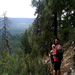 Kaveh and Asha pause to take in the view during a training hike near Payson, Arizona.
