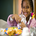 100% of the parents of children at the Nourish America site reported that the children earne better grades in school.