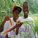 Washington Youth Garden Participants Show off their harvest!