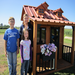 Enjoyed by her niece and nephew, Heidi Oehrlein won this clubhouse, built and donated by Northwoods Bank of Pine City.