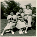 Verna Mikesh, right, and her sisters show off their 4-H projects in the 1930s.