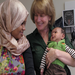 Hana Mohamed and her infant with Prenatal Director, Lisa Weiner