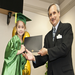 CSM President,Dr. Gottfried, presents a 2011 CLC graduate with an official diploma.