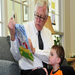 "Celebrity Reader, Congressman Steny Hoyer, read ""House Mouse, Senate Mouse"" to CLC students in March 2010."