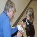 CSM Clinical Instructor Laura Sullivan, taught children how to help teddy feel better at the CLC's teddy bear clinic.
