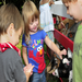 Children enjoyed petting & feeding goats during the CLC on-site field trip of Mary's Go Round pony ride & petting zoo.