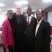 Bob with Masango Matimura and Kisongo Mbeleulu, Wilberforce Academy mentees