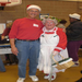 Two of our volunteers spreading holiday cheer at our annual Holiday Distribution