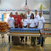 Target volunteers distributing food to families at Zanewood Elementary School