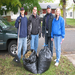 Bosch Packaging employees raking lawns for seniors in our area.