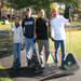 Target Financial employees raking lawns for seniors in our area.
