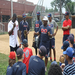 Washington Nationals Roger Bernadina talking with kids at Summer Camp