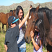 A herd of horses chose to be with the kids for over an hour!