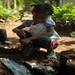Small Child and Small Tree: Reforesting Haiti little by little