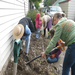 Volunteers improving neglected spaces during the Green Alley Work Day