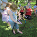 Making hula hoops at the 2011 Hamline Midway Spring Festival