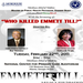 "Flyer for showing of ""Who Killed Emmett Till"" in Georgia at Morehouse"