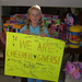 This child's birthday wish was to make gift bags for others