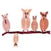 5 Owls on a Branch by Moments of Memory's Alzheimer's Artists, created with women's cosmetics!