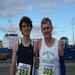 Galway Marathon in 2010 with son Ian --- his first marathon!