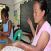The first day of the new sewing empowerment program for the women in Bicol Philippines April 2011