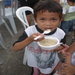 A child benefiting from the Jessica's table program in Malis Philippines