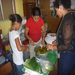 Our volunteers preparing food for the children at La Rosa Blanca