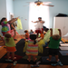 Preschoolers at BigHouse come once a week for Kindermusik, art, free play, and snack.
