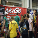 In this picture you can see the NuGo booth and also the back of our running shirts.  We proudly support CAP
