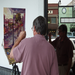 Rick Reinert from South Carolina paints in plein air on Broad street