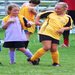 Girls get a kick out of soccer camp.