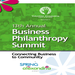 Business Philanthropy Summit program design courtesy of event production designer Carlos E. Lopez, designsomething