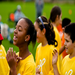 Hi-5's and good times at a Playworks event