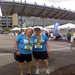 Sam and Sarah (Director of Haiti H2O) after running the 2011 Marathon for Haiti H2O!