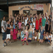 my team and I with all the kids from Vacation Bible School