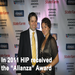 HIP's Ben Francisco Maulbeck and Lacy Serros at the Hispanic Choice Awards in October.