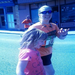 Heather with Amanda at mile 20 in the Pittsburgh Marathon!