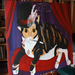Pet Portrait example.  Imagine your pet here, dressed and posed to fit their personality.  Acrylic painting on canvas.