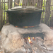 Cooking on an earthen fire