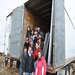 Students from Colgate University delivering donated items to schools and others on the Pine Ridge Reservation.