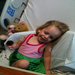 Sweet Teeja shortly after diagnosis with Neuroblastoma 1 year ago